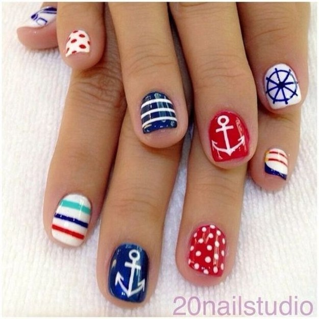Multicolor Summer Nail Art Design