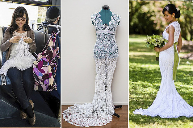 This Woman Made An Amazing Wedding Dress For $30