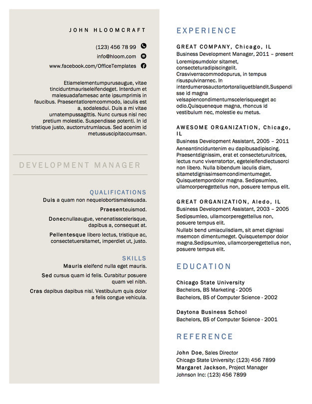 2 column resume template github deedy a one page - Resume Template 2 Column