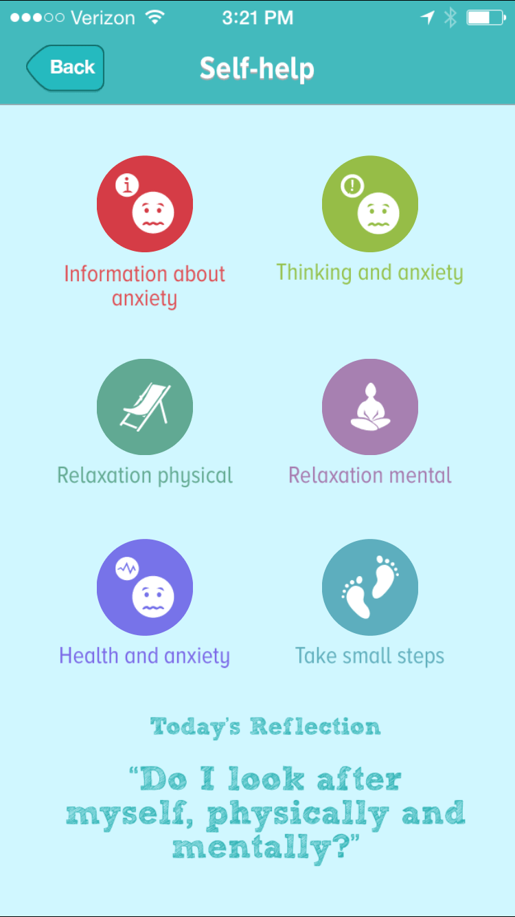 Self Help Exercises Anxiety