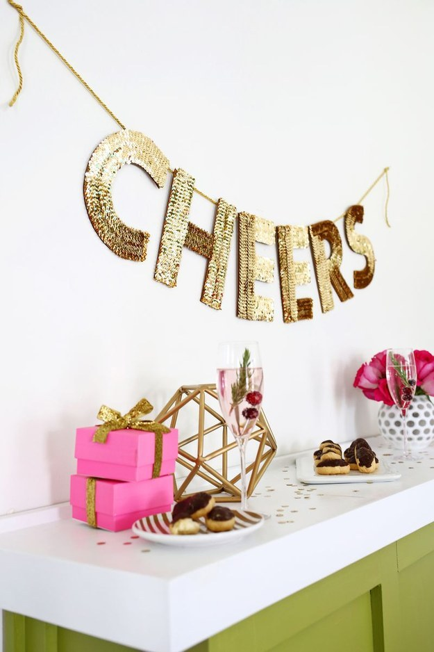 Sequin Letter Garland