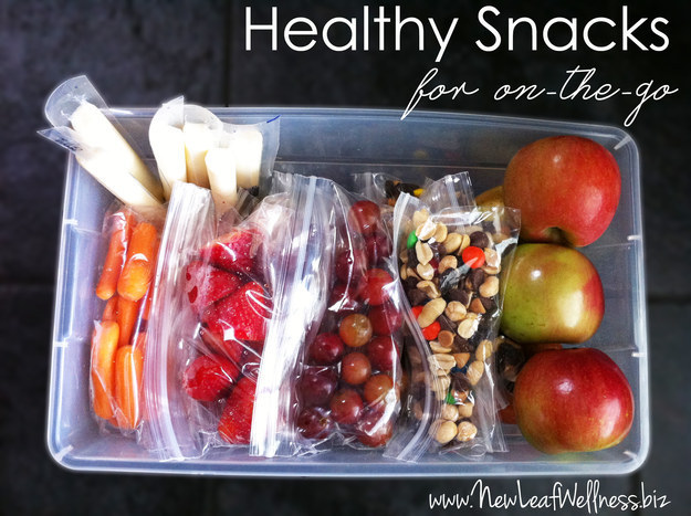 Make sure you take them with you each day. Snacking on healthy things throughout the day will keep your energy up and will keep you from overeating at your meals. Here are 22 healthy and filling snacks under 200 calories for some inspiration!