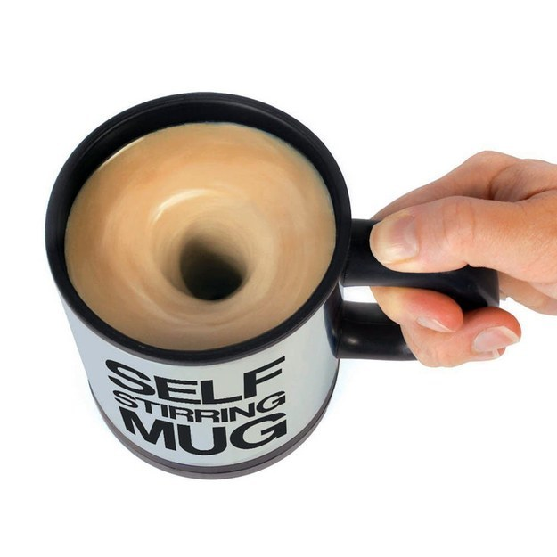 This self-stirring mug: