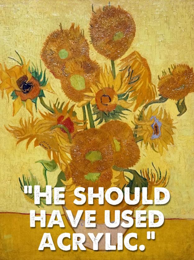 Sunflowers, by Vincent van Gogh