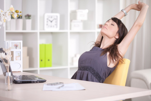 Take frequent stretch breaks or light exercise breaks.