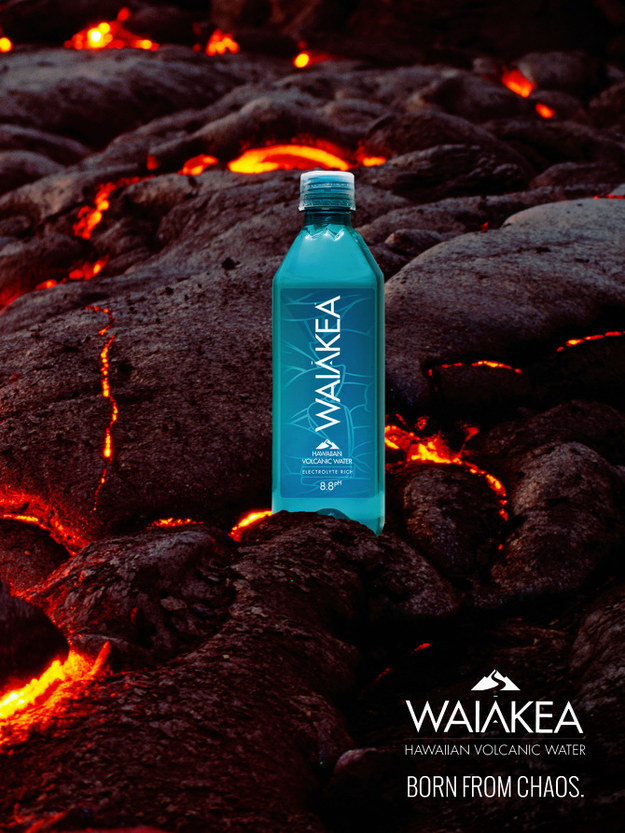 """Hawaiian volcanic"" water."