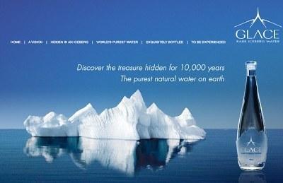 Glace rare iceberg water.