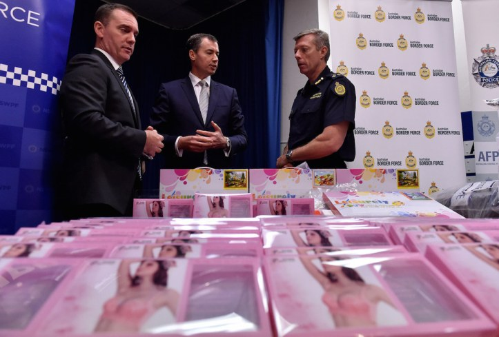 """This is the largest seizure of liquid methamphetamine in Australia's history and one of the largest drug seizures in our country's history,"" said Justice Minister Michael Keenan at the Sydney press conference, reported ITV News."