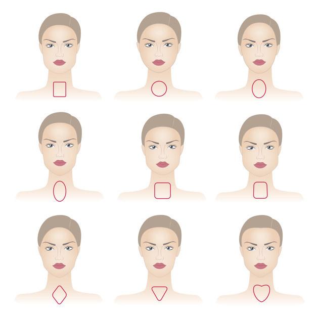 ¿Cómo entiendes cuál es la forma de tu cara? Es muy simple. Sólo ve estas útiles ilustraciones y localiza a la dama que mas se parezca a ti.