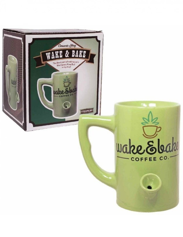 This mug that lets you have your cup of joe and your dope first thing in the morning.