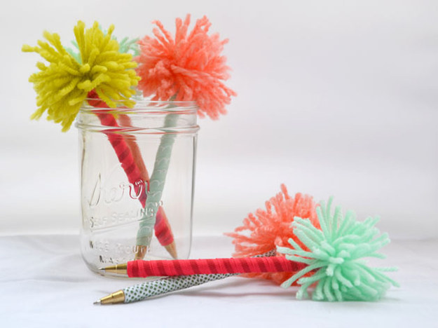 If you can't keep track of your pens, these unmistakable pompoms will stop pen-snatchers in their tracks.