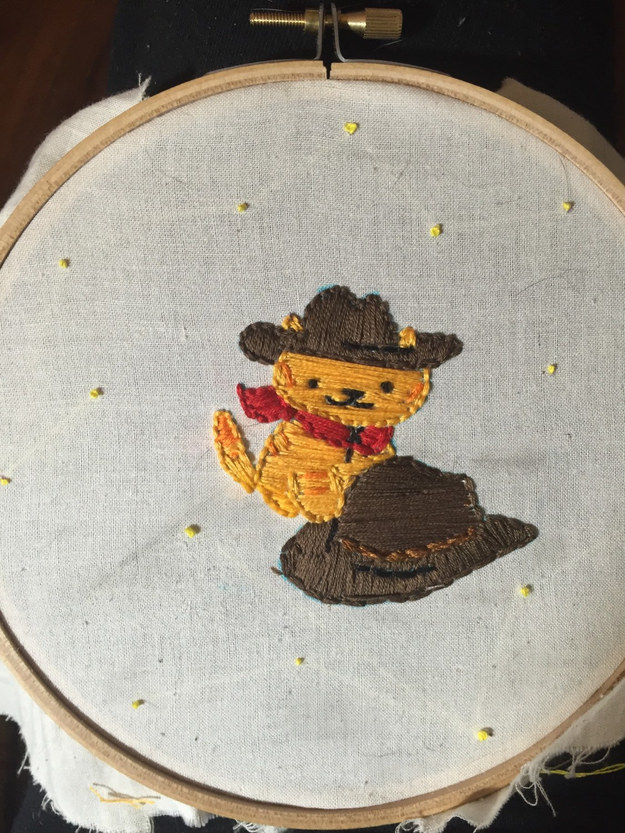 This embroidered Billy portrait ($20)