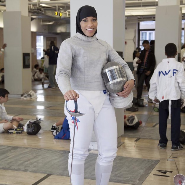 An internationally ranked saber fencer on Saturday said that she was made to remove her hijab in order to take a photo for a badge at the South by Southwest (SXSX) festival in Austin, Texas.