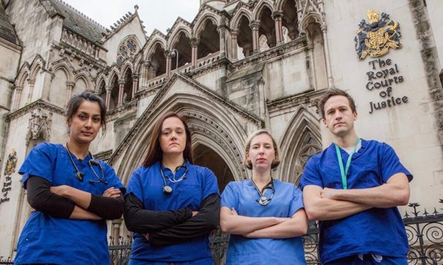 A group of junior doctors have hit their target to raise funds to begin a legal investigation into how safe the government's proposed new contract would be for patients.