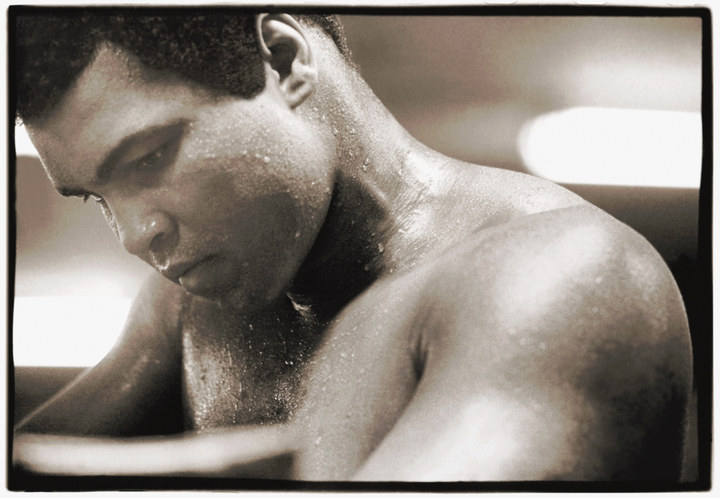 Muhammad Ali at the Fifth Street Gym, Miami Beach, Florida, shortly after his loss of the world heavyweight championship to Leon Spinks, in 1978, at the age of 36. Seven months later, he won it back.