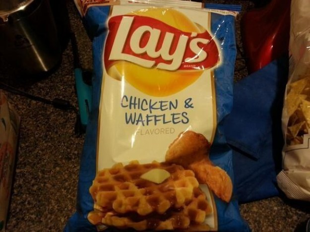 Honestly, chicken and waffles seems weird. But cultural differences - sure, why not? But this is not an OK thing to flavour stuff with.