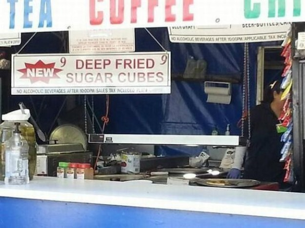 I understand the appeal of deep frying things. Fried batter is great! But there can be no justification for deep-frying sugar cubes.