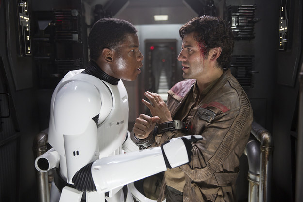 John Boyega auditioned with Finn's first conversation with Poe multiple times before he got the role.