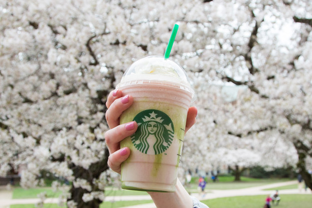 So, on Tuesday Starbucks announced a new flavor would be joining its Frappuccino family: cherry blossom.