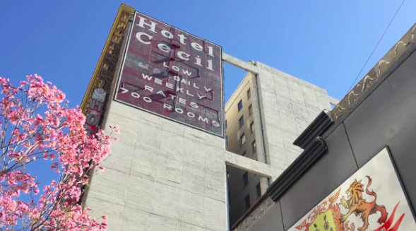 Our mystery starts at the Stay on Main hotel in L.A., formerly known as Hotel Cecil.