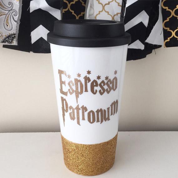This punny travel mug.