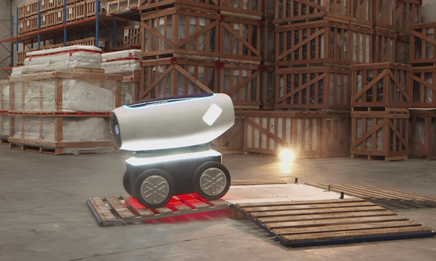 DRU is a legit pizza-delivering robot, which is partly super cool, and partly terrifying as all Hell.