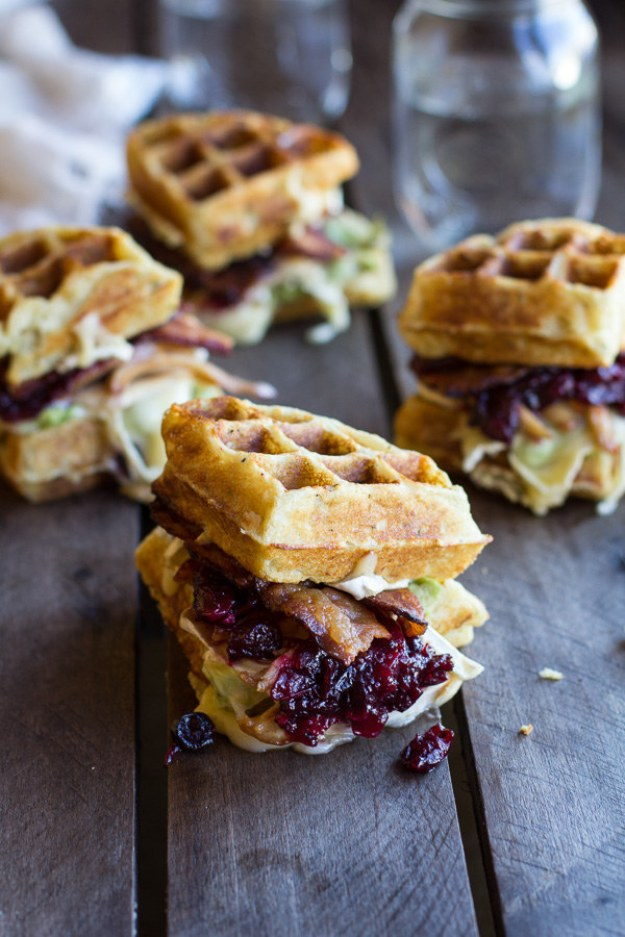 Leftover Thanksgiving Waffle Sandwiches