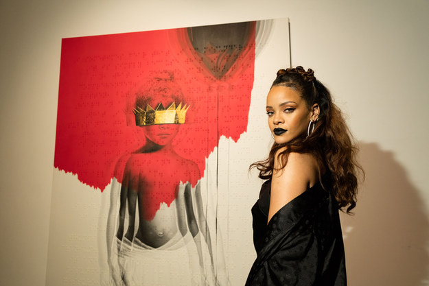 And this is Rihanna. She just released her 8th studio album, Anti, back in January.
