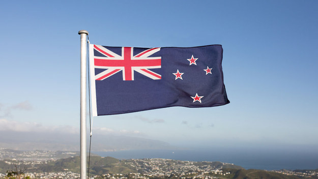 After a ridiculously long process, New Zealanders will tonight find out whether or not they have a new flag for the first time in 114 years. Here's the current one.