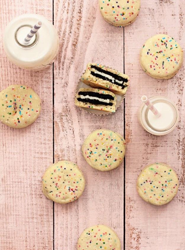 Oreo Stuffed Funfetti Cookies
