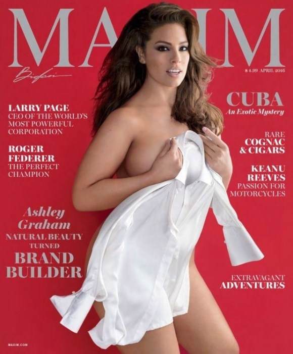 And now Maxim has added another sexy lady to its roster: supermodel Ashley Graham, who's a size 16.