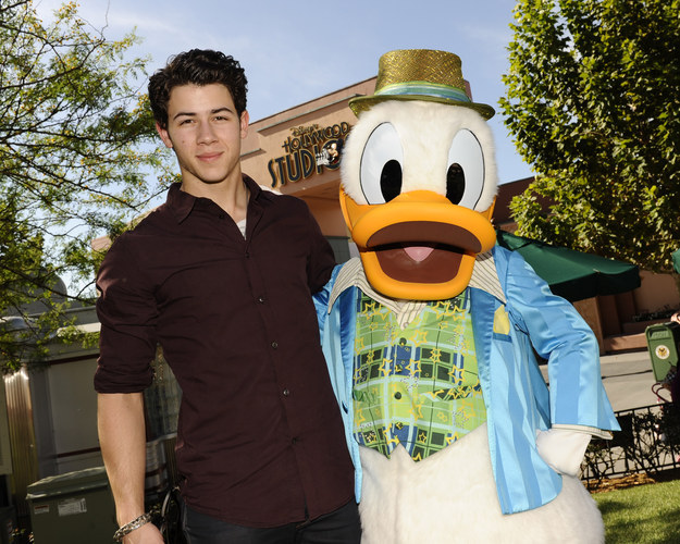 Nick Jonas was not as beefcake as he is today! Also he hung out with Disney characters!