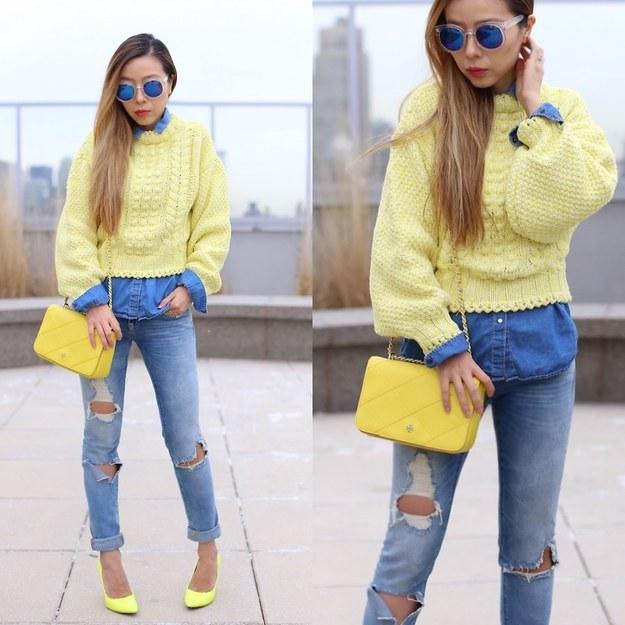 Amarillo y azul, para los dia mas alegres.