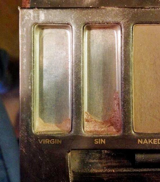 Cuando se te terminan tus colores preferidos de una paleta de sombras para ojos y es absolutamente desgarrador.