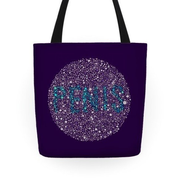 This tote with the perfect design for your colorblind friend.