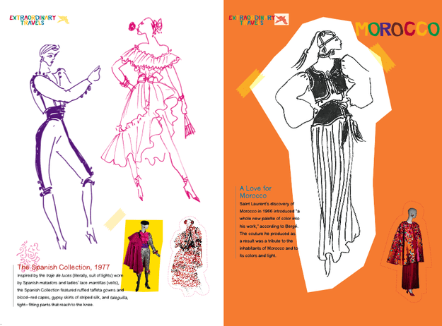 The book's 48 line drawings are based on the designer's original sketches over the years.