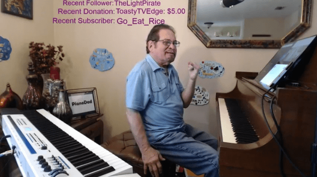Or maybe your favorite isn't even about gaming, like pianoimproman, who live-streams himself playing the piano while taking song requests from chat.