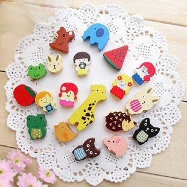 This adorable set of 19 Japanese refrigerator magnets ($5.29).