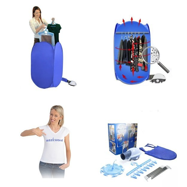 This portable pop-up clothing dryer to go with your portable tiny laundry machine ($59.99).