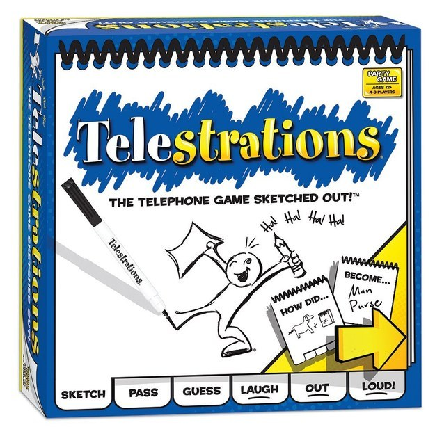 Telestrations is like telephone + Pictionary.