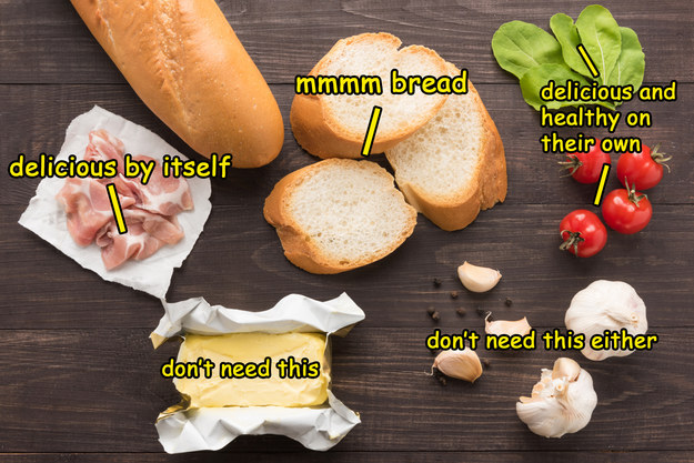 Although you'd usually rather just eat the ingredients than bother putting together an actual sandwich.
