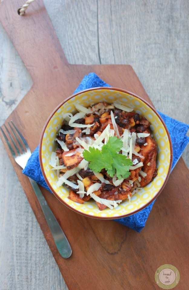 Sweet Potato and Black Bean Bake