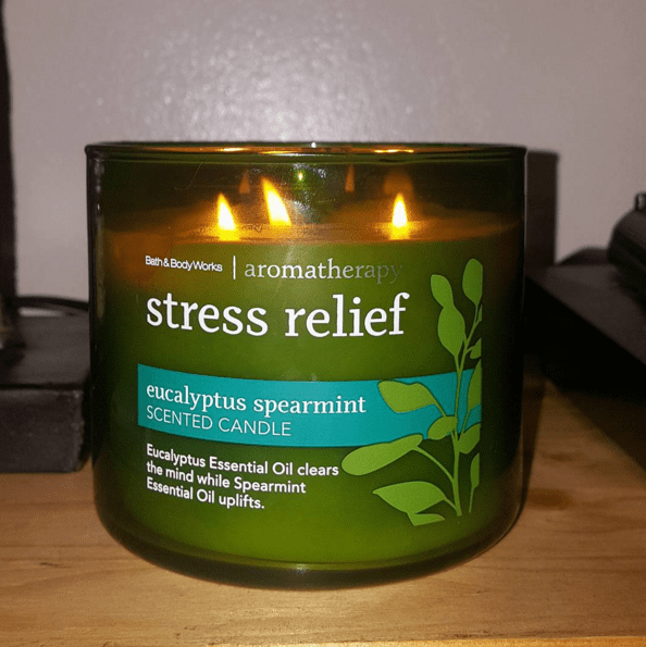 Maybe you have a candle that routinely calms you the fuck down.