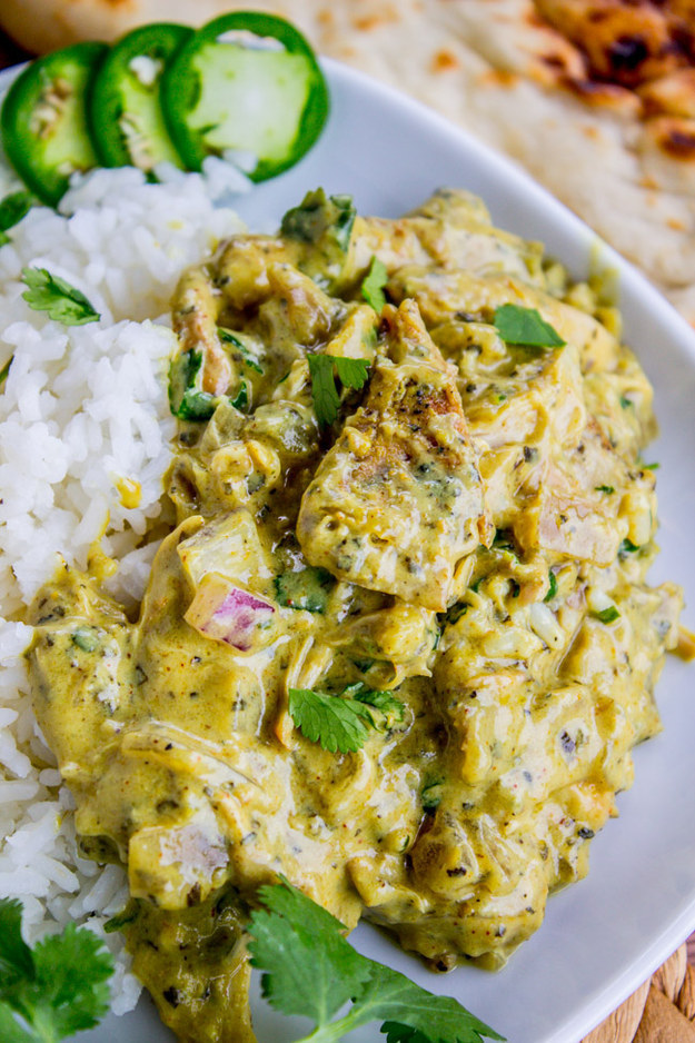 Basil Chicken in Coconut Curry