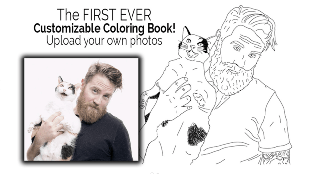 And it's really freaking easy. Just upload the photos you want, and BAM. It's your own Insta-coloring book.