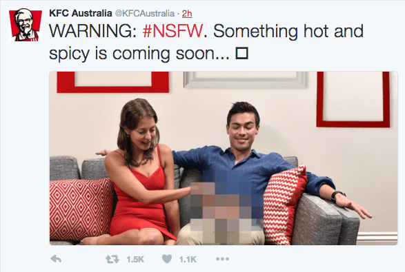 Earlier today, KFC Australia tweeted out the following weird as hell tweet: