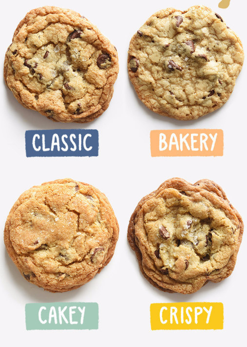 It took a ton of testing and retesting to get them exactly right — all told I made 38 batches (that's over 900 cookies!) over three months — but I came away with ~four original recipes~ that cover every cookie category: