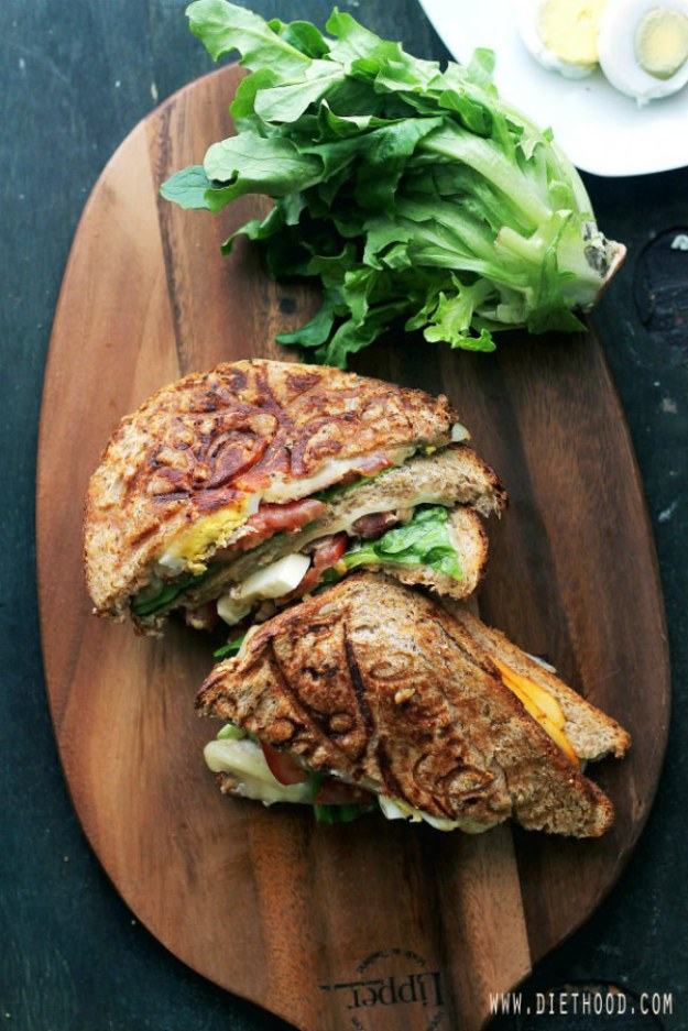 BLT Egg Grilled Cheese Sandwich