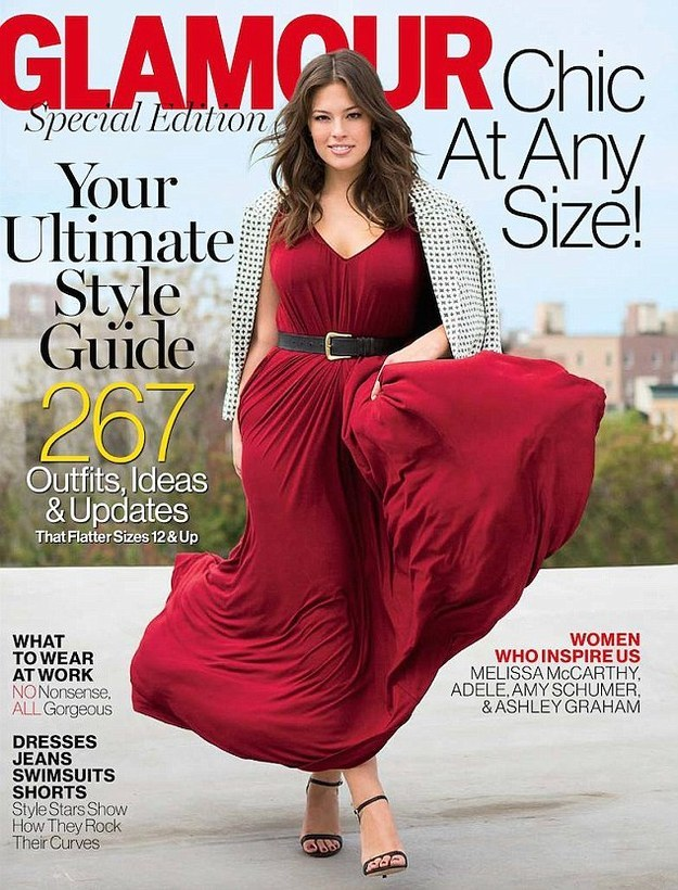 """And on Tuesday she showed this once again when she called out Glamour magazine for labelling her plus-size in a recent special """"Chic at Any Size"""" edition."""