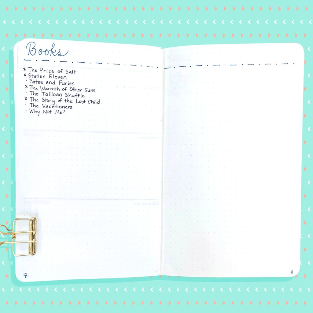 E se decidi di voler aggiungere una di queste pagine (o, scusami, MODULI) in seguito, puoi semplicemente crearle ovunque ti trovi nel diario. Basta aggiungere il numero di pagina al tuo indice in modo da poterlo trovare facilmente in seguito.
